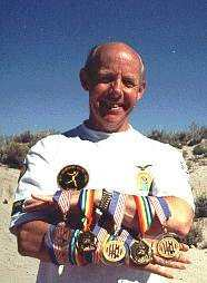 Barry Groves, at the age of 60, takes 3 Gold Medals with 2 World records in 1996