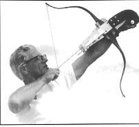Alan Webster shooting a Drake Flight bow